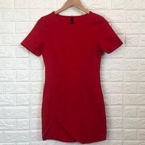 GOJANE red bodycon asymmetric dress